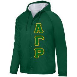 Fraternity Jacket  Coach Hoodie   Collegiate Greek
