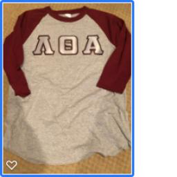 LTA 3/4 Sleeve Two Tone Shirt with Twill letters