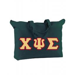 Sorority LARGE CANVAS BAG WITH ZIPPER CLOSURE