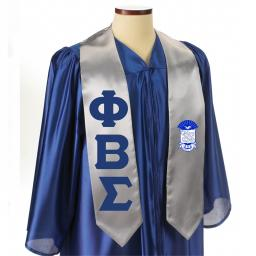 Greek Graduation Stoles with Crest | Sewn On Letters