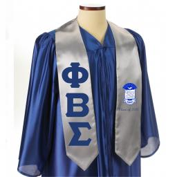 Sewn On Letters Greek Graduation Stoles with Crest
