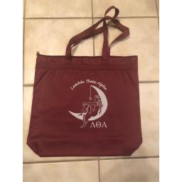 Lady On the Moon Zipper Top Tote Bag