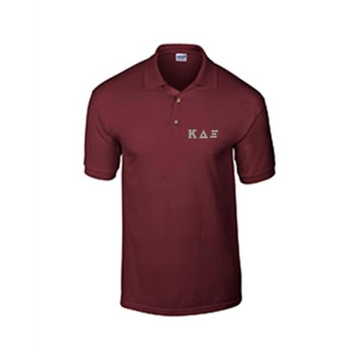 Unisex Cotton Polo Shirt with Embroidered Greek Letters