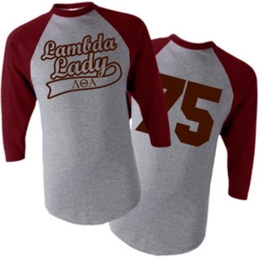 Lambda Theta Alpha - Lambda Lady Baseball 3/4 Tee Shirt