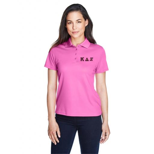 Womens Polo Shirt with Embroidered Greek Letters